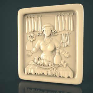 3d STL Model for CNC and 3d Printer Bas-Relief 1073