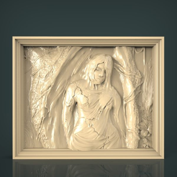 3d STL Model for CNC and 3d Printer Bas-Relief 1077