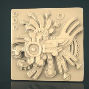 3d STL Model for CNC and 3d Printer Bas-Relief 1085