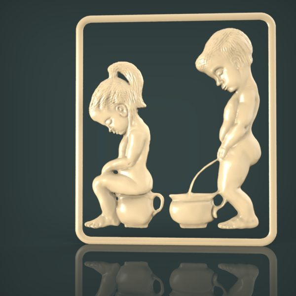 3d STL Model for CNC and 3d Printer Bas-Relief 1086