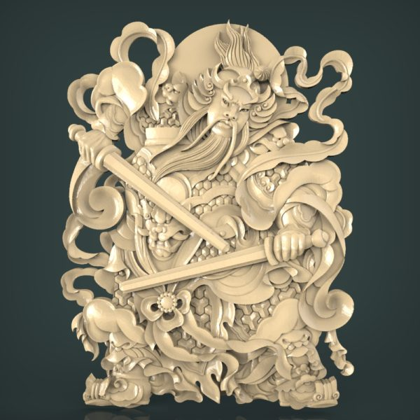 3d STL Model for CNC and 3d Printer Bas-Relief 1087