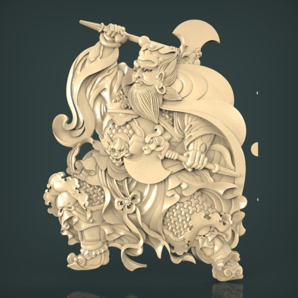 3d STL Model for CNC and 3d Printer Bas-Relief 1088
