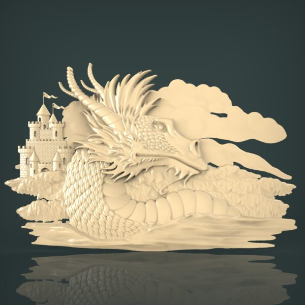 3d STL Model for CNC and 3d Printer Bas-Relief 1090