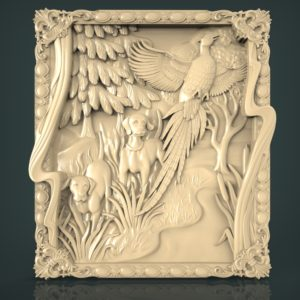 3d STL Model for CNC and 3d Printer Bas-Relief 1092