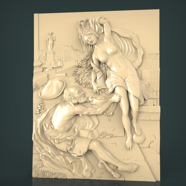 3d STL Model for CNC and 3d Printer Bas-Relief 1093