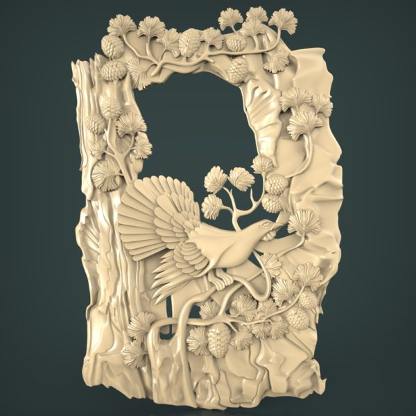 3d STL Model for CNC and 3d Printer Bas-Relief 1094