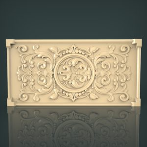 3d STL Model for CNC and 3d Printer Panel 1096