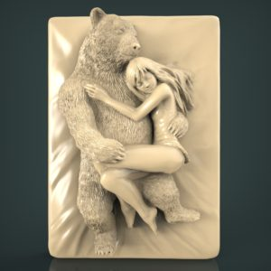 3d STL Model for CNC and 3d Printer Bas-Relief 1100