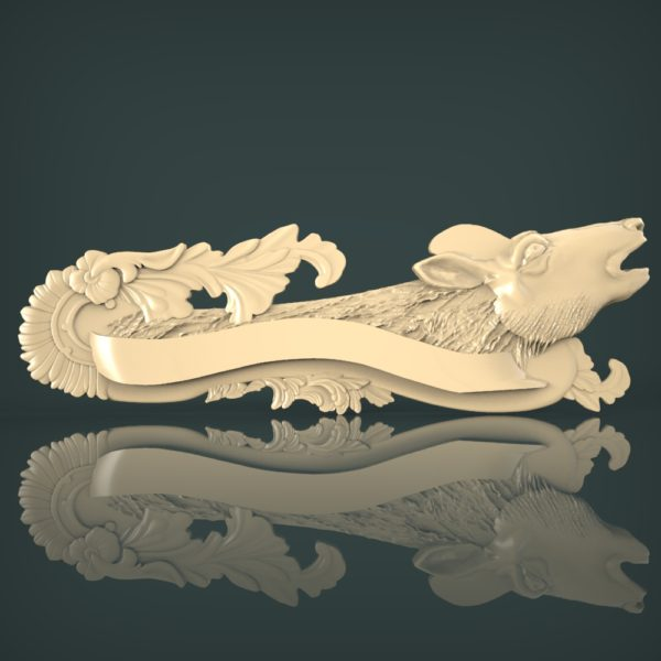 3d STL Model for CNC and 3d Printer Bas-Relief 1102