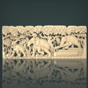 3d STL Model for CNC and 3d Printer Bas-Relief 1103