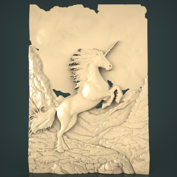 3d STL Model for CNC and 3d Printer Bas-Relief 1104