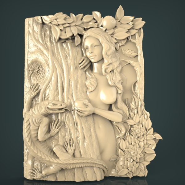 3d STL Model for CNC and 3d Printer Bas-Relief 1107
