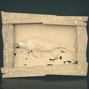 3d STL Model for CNC and 3d Printer Bas-Relief 1108