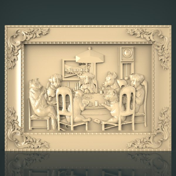 3d STL Model for CNC and 3d Printer Bas-Relief 1113