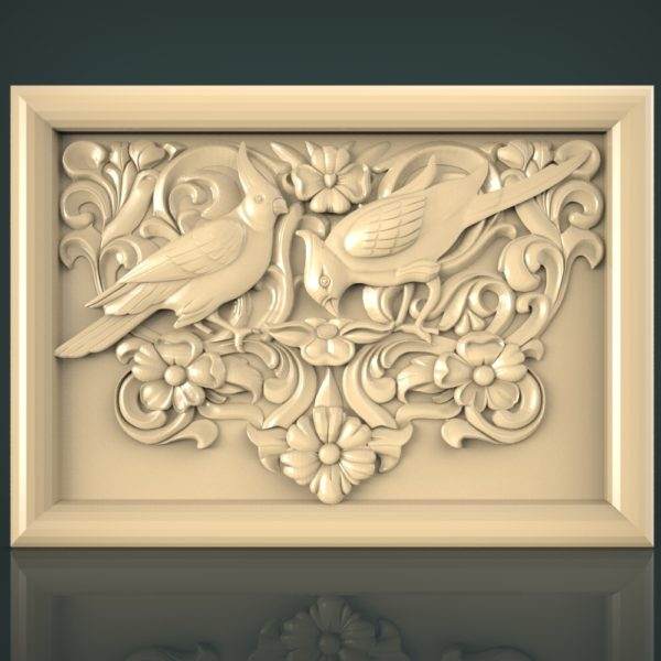 3d STL Model for CNC and 3d Printer Bas-Relief 1114