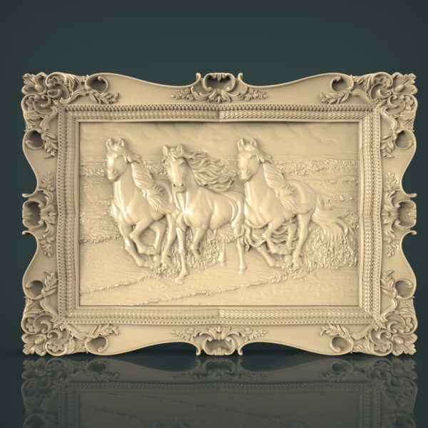 3d STL Model for CNC and 3d Printer Bas-Relief 1116