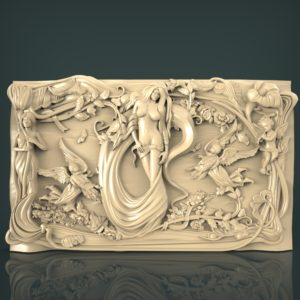 3d STL Model for CNC and 3d Printer Bas-Relief 1117