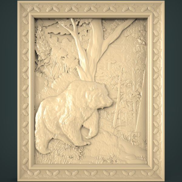 3d STL Model for CNC and 3d Printer Bas-Relief 1118