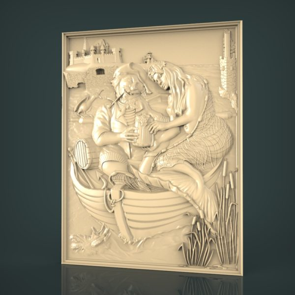 3d STL Model for CNC and 3d Printer Bas-Relief 1122