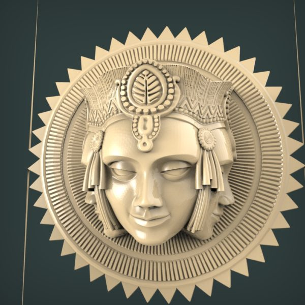 3d STL Model for CNC and 3d Printer Bas-Relief 1123