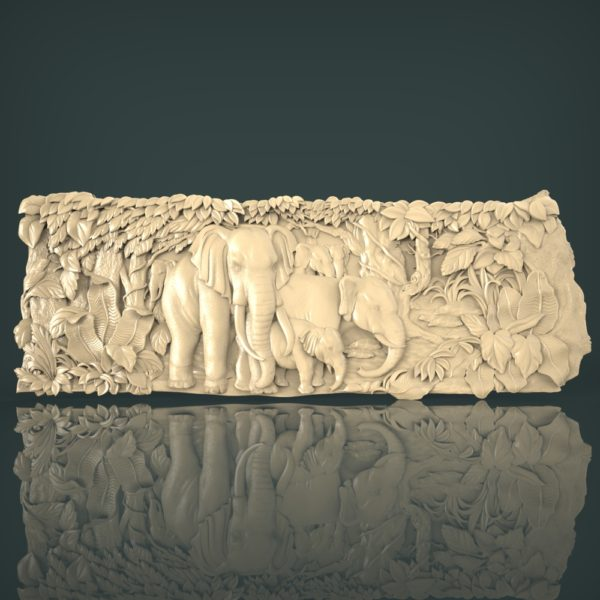 3d STL Model for CNC and 3d Printer Bas-Relief 1128