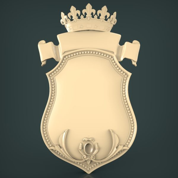 3d STL Model for CNC and 3d Printer Coat of Arms 1129
