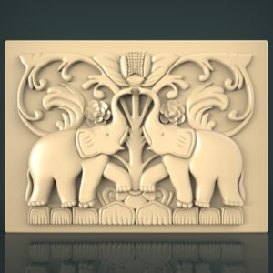 3d STL Model for CNC and 3d Printer Bas-Relief 1134