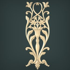 3d STL Model for CNC and 3d Printer Decor 1135