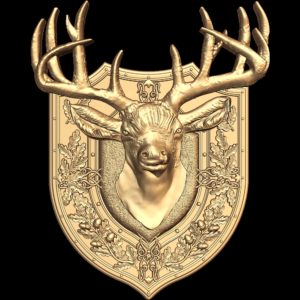 3d STL Model for CNC Coat of Arms 798