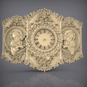 3d STL Model for CNC and 3d Printer Clock 871