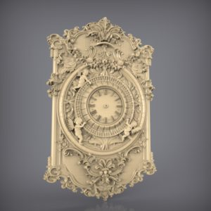 3d STL Model for CNC and 3d Printer Clock 873
