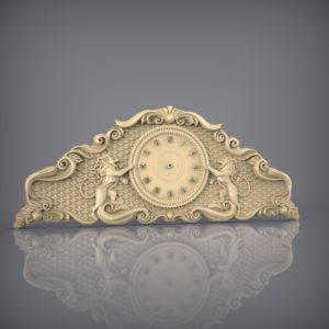 3d STL Model for CNC and 3d Printer Clock 880