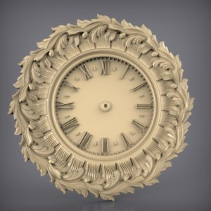 3d STL Model for CNC and 3d Printer Clock 886