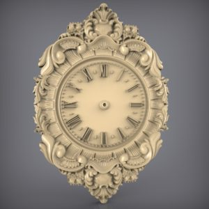 3d STL Model for CNC and 3d Printer Clock 890