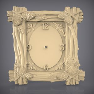 3d STL Model for CNC and 3d Printer Clock 913