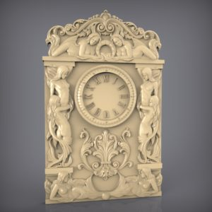 3d STL Model for CNC and 3d Printer Clock 914