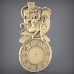 3d STL Model for CNC and 3d Printer Clock 922
