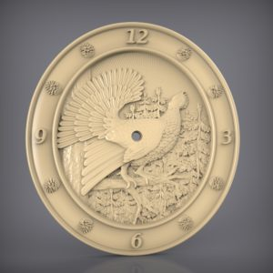 3d STL Model for CNC and 3d Printer Clock 924