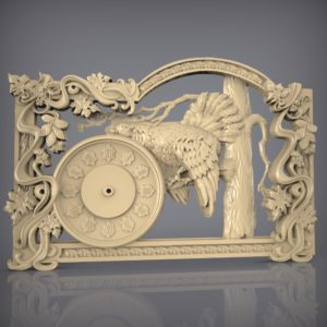 3d STL Model for CNC and 3d Printer Clock 925