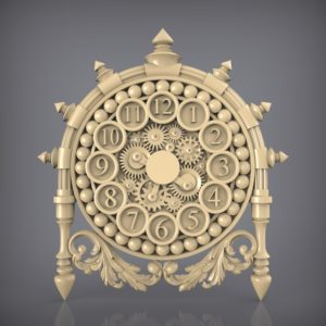 3d STL Model for CNC and 3d Printer Clock 927