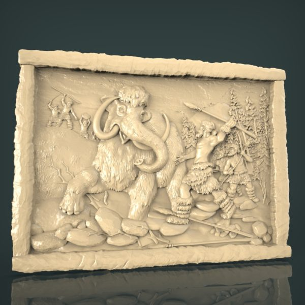 3d STL Model for CNC and 3d Printer Bas-Relief 933