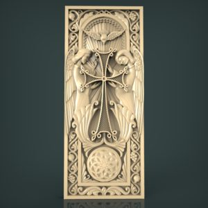 3d STL Model for CNC and 3d Printer Bas-Relief 936