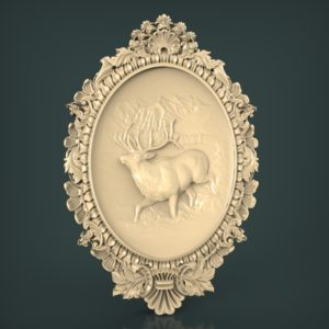 3d STL Model for CNC and 3d Printer Bas-Relief 942