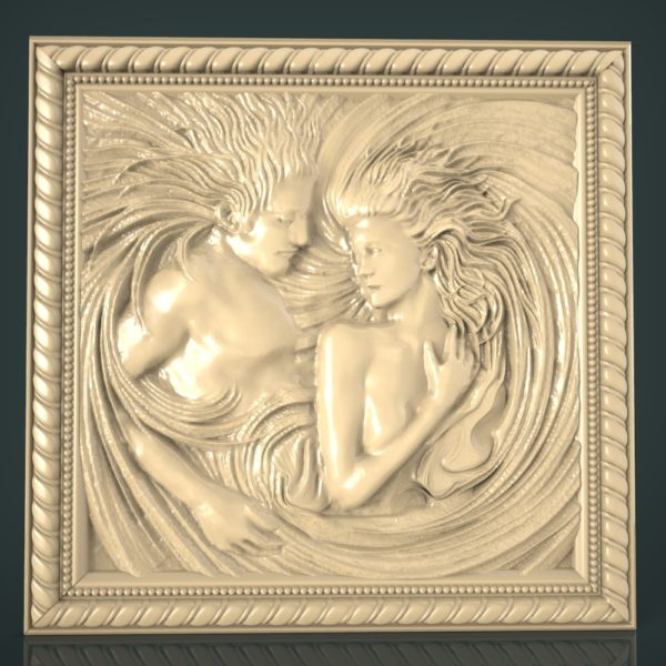 3d STL Model for CNC and 3d Printer Bas-Relief 946