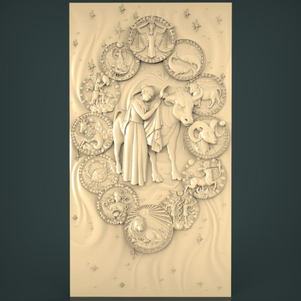 3d STL Model for CNC and 3d Printer Bas-Relief 953