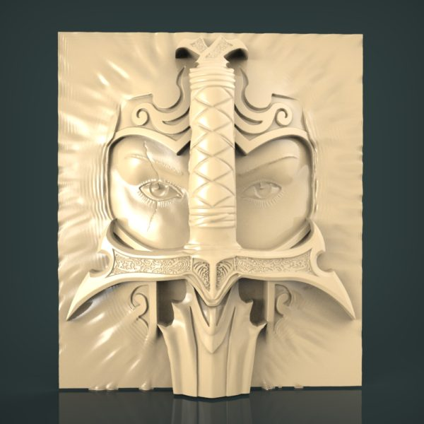 3d STL Model for CNC and 3d Printer Bas-Relief 954