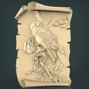 3d STL Model for CNC and 3d Printer Bas-Relief 956