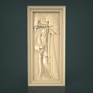 3d STL Model for CNC and 3d Printer Bas-Relief 957