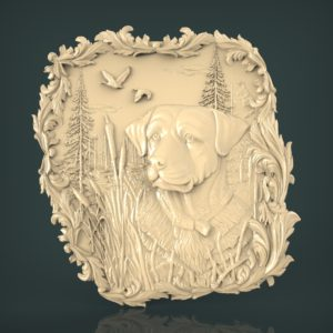 3d STL Model for CNC and 3d Printer Bas-Relief 960