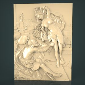 3d STL Model for CNC and 3d Printer Bas-Relief 961